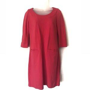 Kate Spade Coral Pink Shift Dress Size XS